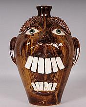 South Carolina, Otis Norris Stoneware Face Jug