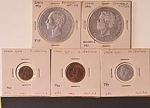 5 Spanish Coins