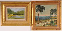 2 Signed Oil on Board Paintings