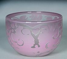 Bertil Vallien Art Glass Bowl, Kosta Boda