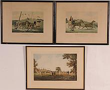 3 English Sporting Color Engravings