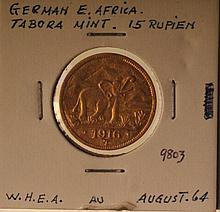 German East Africa 1916-T Gold 15 Rupien