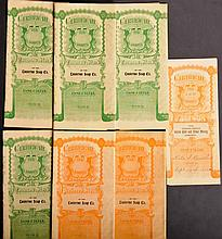 7 Territory of Arizona Stock Certificates
