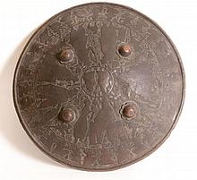 19th C. Middle Eastern Bronze Shield