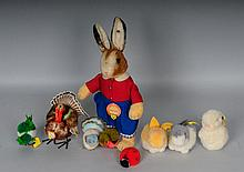 c. 1950s Steiff Toy Grouping--Hansili Rabbit, Etc.