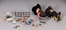 German Painted Flats, Other Lead Toys, 2 Dolls