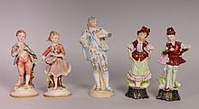 Five Porcelain Figures