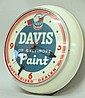 Davis Paint Advertising Clock Light