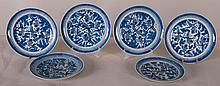 6 Nanking Chinese Export Porcelain Plates