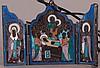 Russian Silver Enamel Icon Triptych