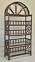 Painted Faux Bamboo Etagere
