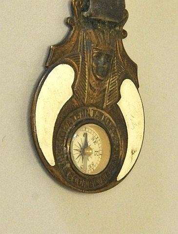 Masonic Compass Enamel Watch Fob