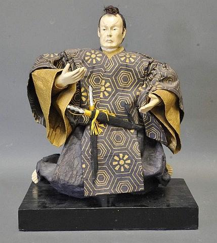 Japanese Papier Mache Samurai Figure
