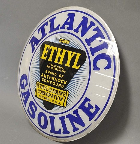Atlantic Gasoline with Ethyl Single Globe Lens