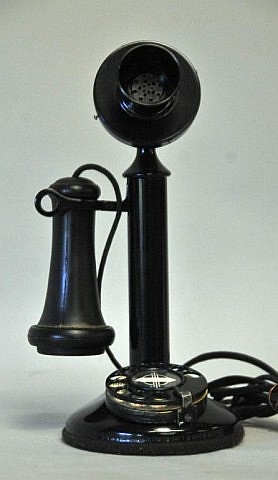 Desktop Candlestick Telephone w/ Rotary Dial
