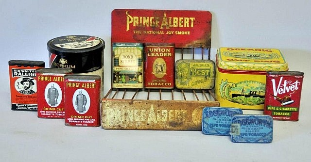 Tobacco Tins & Prince Albert Display