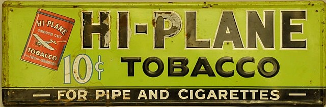 Hi-Plane Tobacco Embossed Tin Sign