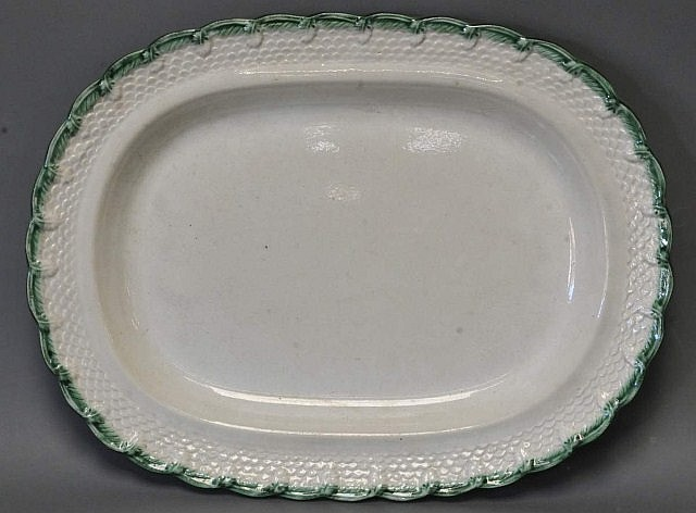 Green Feather Edge Platter