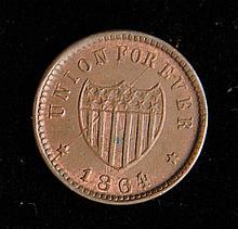 1864 Union Forever Civil War Token