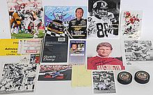 Collection of 30 Sports Figures Autographs