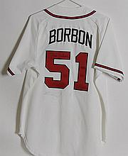 Signed Pedro Borbon Official Game Jersey