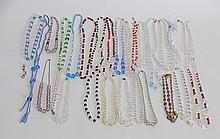 27 Vintage Glass Bead Necklaces