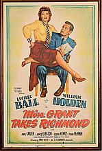 1949 Lucille Ball & William Holden Movie Poster