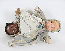 American Folk Art Topsy Turvy Doll
