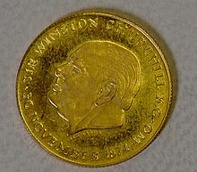 Winston Churchill Gold Medallion