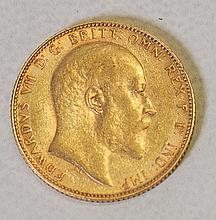 Great Britain 1908 Gold Sovereign Coin