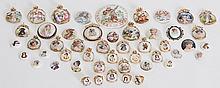 49 Miniature Porcelain Plaques