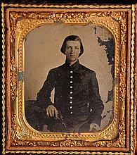 2 Pcs.--Civil War Era Ambrotype & Tin Type