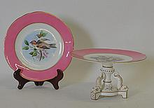 19th C. Porcelain Stand w Dolphin Feet