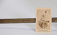 Chick Galloway Baseball Card & Masonic Sword