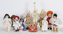 Lot of 11 Late 20th Century Dolls