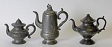 3 Pcs. Mid-19th Century American Pewter