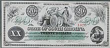 1872 South Carolina Revenue Bond Scrip Note