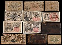 Lot of (12) U.S. Fractional Currency Notes