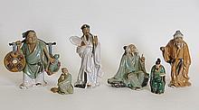 Grouping of Six Chinese Mud Men