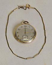 c. 1901 Hamilton (917) Pocket Watch & Chain