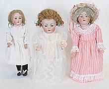 Lot of 3 Kammer & Reinhardt German Bisque Dolls