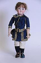 Kley & Hahn German Bisque Head Doll