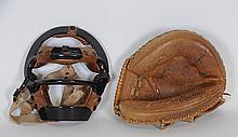 Vintage Rawlings Catcher's Mask & Mitt