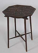 Carved Octagonal Table