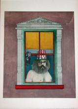 Richard Lindner, Poet, Signed Lithograph