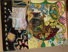 Bracha Guy, The Vase, Signed Oil on Paper