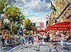 Kamil Kubik, Champs Elysee, Signed Canvas Print