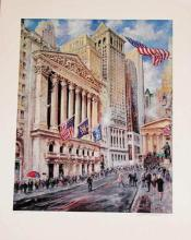 Kamil Kubik, Noon at the Exchange, Signed Serigraph