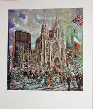 Kamil Kubik, St. Patricks Day, Signed Serigraph
