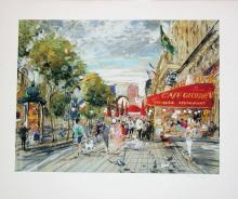 Kamil Kubik, Champs Elysee, Signed Print